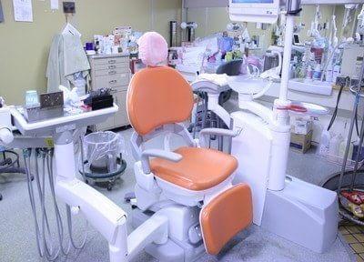診療チェアの衛生管理にも気をつけています。
