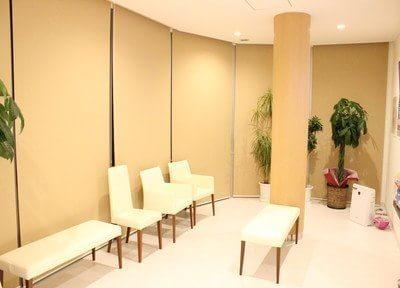 待合室は白を基調とした清潔感のあるスペースです。