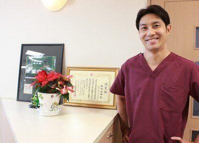 脇田 祐輔先生です。患者様に安心できる治療を行います。