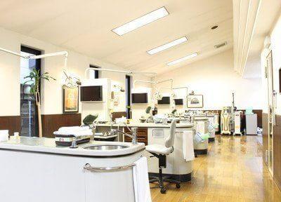 診療室です。広々として開放感があります。