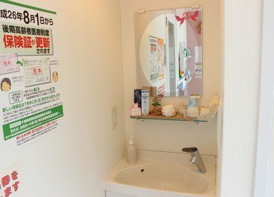 洗面台です。診療前の歯磨き等にご利用ください。