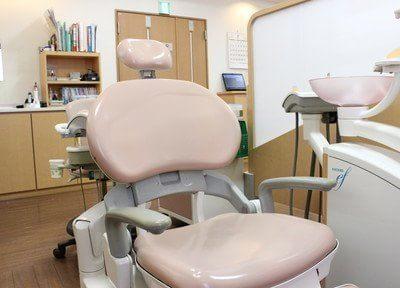 診療室のチェアです。丁寧な治療を行いますのでリラックスしてお掛けください。