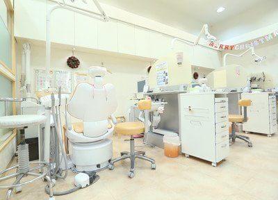 診察室はブースごとに分けられており人目を気にせず治療を受けられます。