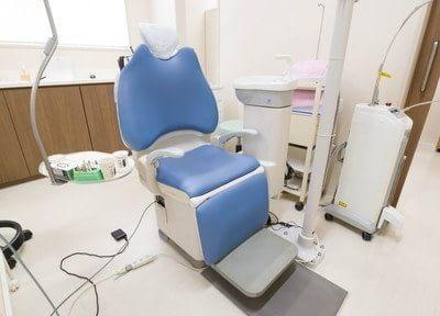 診療ユニットです。患者様はこちらにお掛けになって治療を受けていただきます。