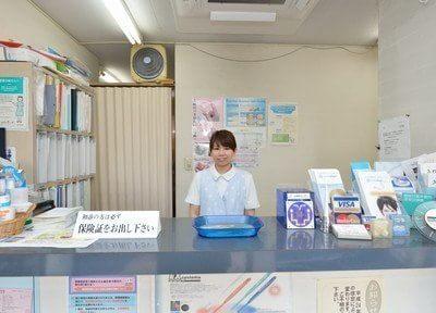 受付ではスタッフが笑顔でご対応いたします。