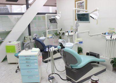 診療室です。痛みの少ない治療を常に心がけております。