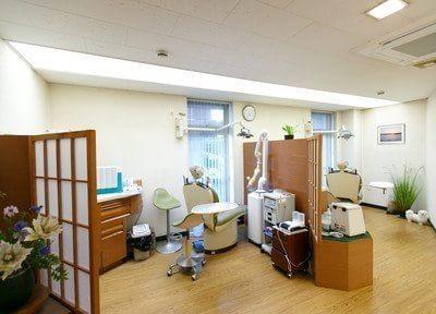 診療室は一つ一つパーテーションで区切られています。