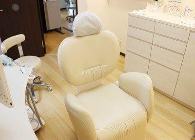 診療ユニットはリラックスしていただけるよう、実用性だけでなく、座り心地にもこだわって選びました。