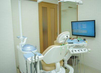 診療台です。二人三脚で生涯の健康をお守りします。