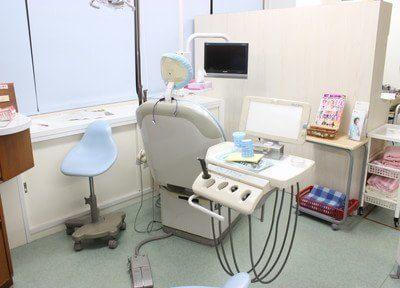 診療室です。不安点などございましたら、どうぞお気軽にお伝えください。
