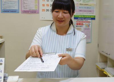 助手が笑顔でお迎えいたします。