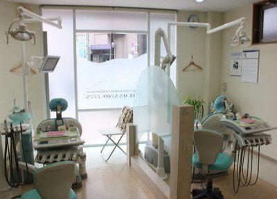 診療室は仕切りがあり、快適に治療を受けることが出来ます。