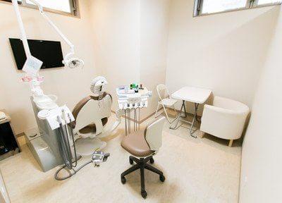 診察室は半個室になっています。