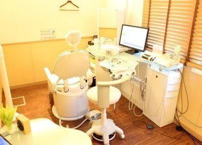 診療室は落ち着いた雰囲気です。