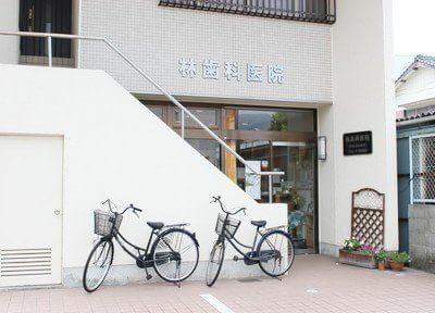 宇和島駅から徒歩2分の位置にある、林歯科医院の外観です。