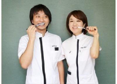 こが歯科のスタッフです。丁寧な対応を心がけております。
