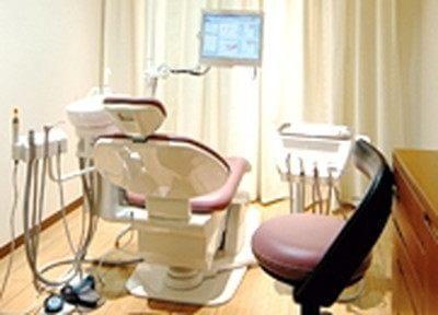 個室の診療室です。お気軽にご相談ください。