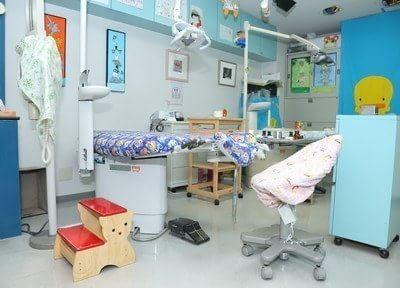 かわいらしい診察室です。