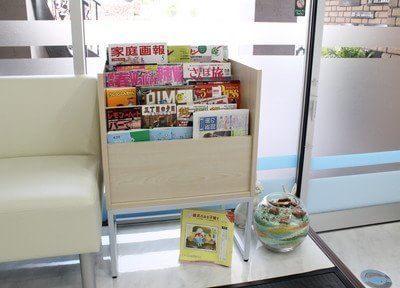 待合室には雑誌を置いていますのでご利用ください。