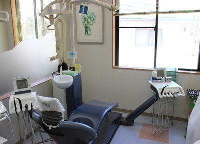 診療室です。窓に面していますので、開放感が抜群です。