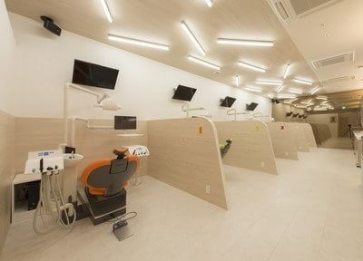診療室です。それぞれが仕切られています。