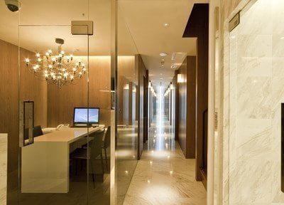 院内です。徹底した衛生管理により、清潔度の高い空間を維持しています。