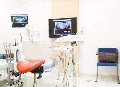 治療中はモニターを見ながら治療を受けられます。