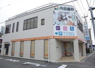 上溝駅東口から車で4分の場所にある内田歯科医院の外観です。
