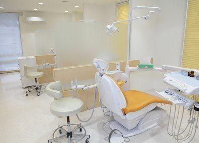 診療室は診療チェアごとにパーテーションで区切られております。