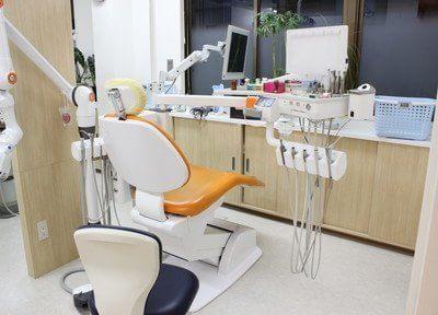 仕切りのある診療室で、快適に診療を受けることができます。