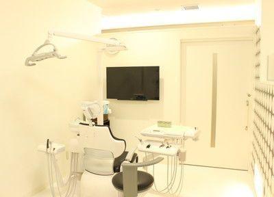 診療室です。個室制の診療室は、清潔感があります。