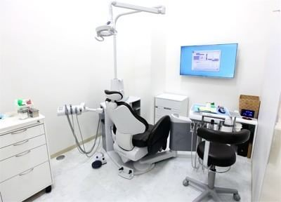 診療室です。治療について不安点などありましたら、遠慮なくご相談ください。