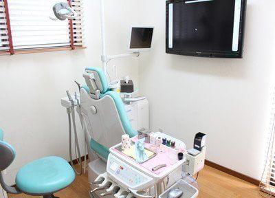 診療チェアのモニターを使った分かりやすい説明も行います。