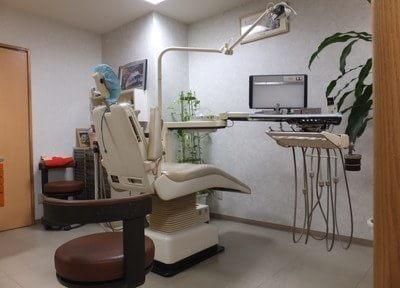診療スペースです。治療について不安点などがありましたら、些細なことでもお伝えください。