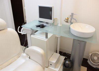 診療室は個室ですので、安心して治療をうけていただけます。