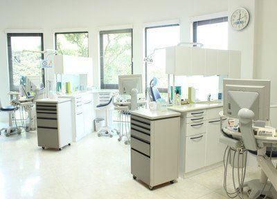 診療室は窓に面していますので、明るい光が差し込みます。