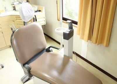 清潔な診療チェアで診療を行います。