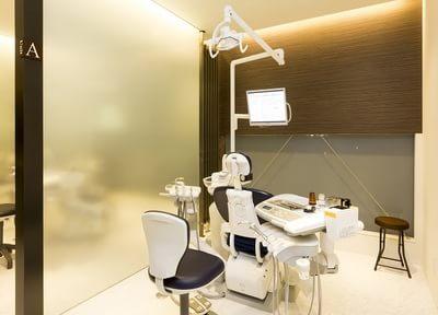 診療ユニットです。モニターを使って患者様のお口の中の状況を説明しながら治療をいたします。