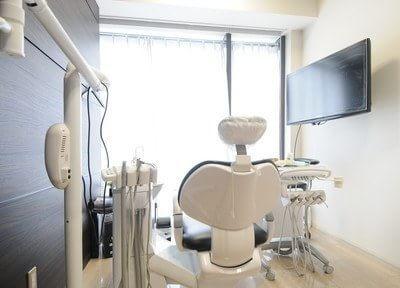 診察室です。窓からは明るい日が差します。
