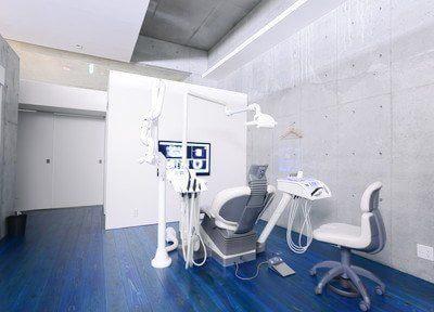 ほかの患者様を気にせず、広々とした診療室で治療を受けていただけます。