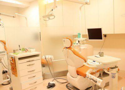 診療室は全てのユニットが半個室になっています。患者様は入り口のドアを入ってユニットに座るので、他の患者様の目線が一切気になりません。