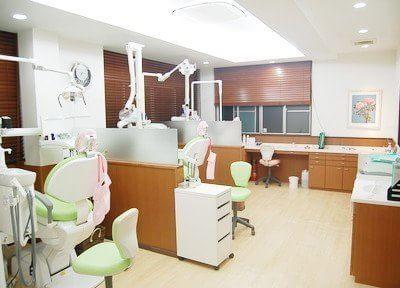 診療室は仕切りで仕切られ、半個室となっております。