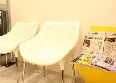 待合室です。雑誌や新聞などもご用意していますので、ご覧になってお待ち下さい。