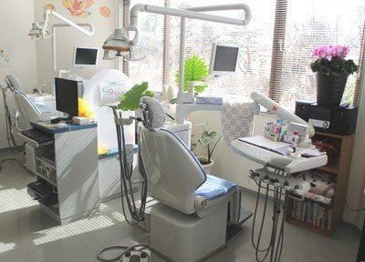 明るい光が差し込む診療室です。