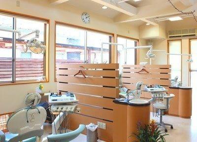 診療室は広く開放感のある環境になっております。