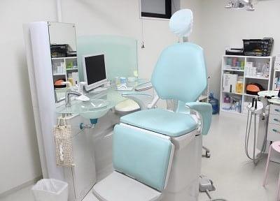 診療チェアの衛生管理を徹底しています。