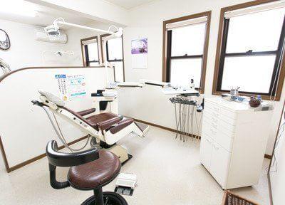 診療室はあかるく開放感のある空間です。