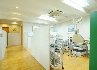 診療室はパーテーションで仕切られていますので、プライベート空間の確保ができます。