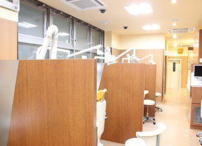 診療室は一つ一つ仕切りで仕切られていますので、プライバシーを保護できます。