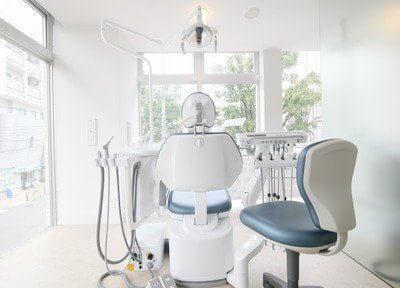 診療室は窓に面しているので、開放感があります。リラックスして受診いただけます。